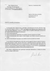 Convenzione CRAL - BdS dello psicoterapeuta Roberto karra