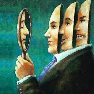 Raffigurazione di una maschera da cui deriva il termine personalità
